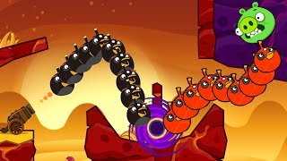 Angry Birds Cannon Collection 3 - TRANSFORM BOMBER TO RED THROUGH BLACKHOLE TO BLAST PIGGIES!