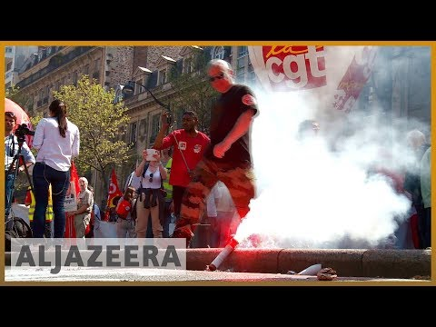 🇫🇷 Thousands protest against Macron reforms across France | Al Jazeera English