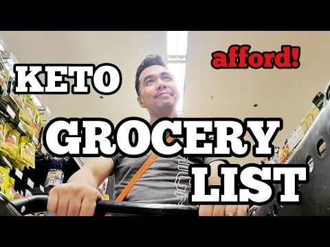FILIPINO KETO NORMAL EVERYDAY OR WEEKLY KETO GROCERY LIST - YouTube