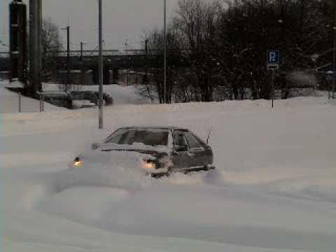 audi coupe quattro snow