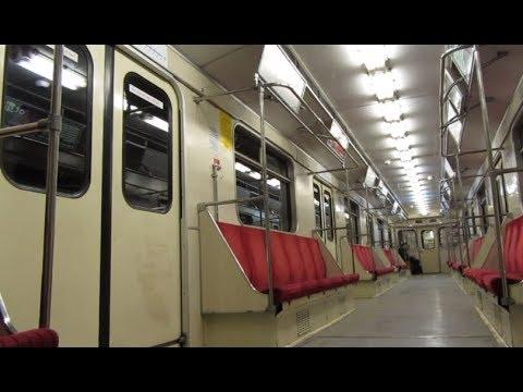 Warsaw Metro, ride on a Metrowagonmash 81-717 train line M1