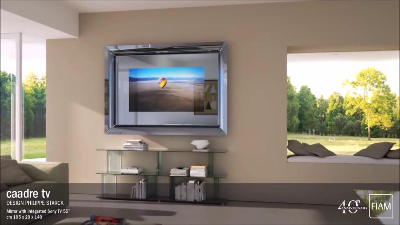 HA025 Inter-Faces : le miroir Caadre TV de Philippe Starck pour Fiam ...