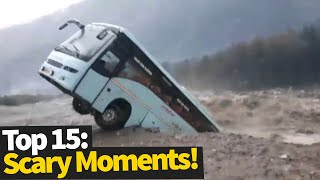 Top 15 Scary Moments Caught On Camera