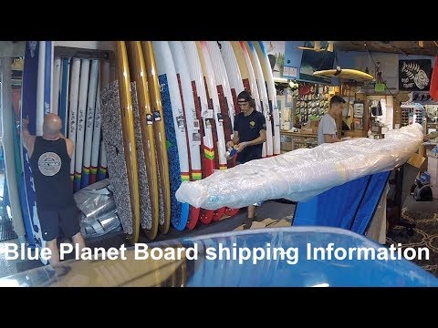 Blue Planet Board Shipping Information- US and International