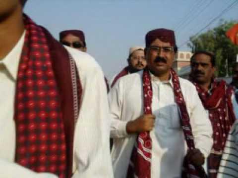 sindhi topi ajrak day.org by Bin Qasim town nazim Jan-e-alam jamot & Mukhi Odha Mal