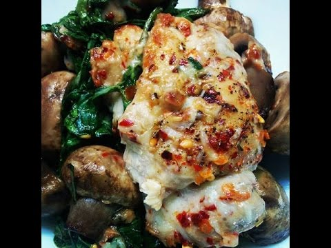 Stuffed Chicken With Spinach & Mushrooms