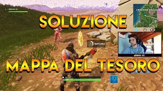 FOLLOW THE MAP OF TESORO TROVATA IN THE ANACREALS TUTORIAL FORTNITE ITA PASS BATTLE 3