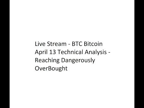 Live Stream - BTC Bitcoin April 13 Technical Analysis - Reaching Dangerously OverBought