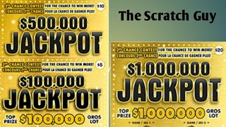 Scratching the $20.00, $10.00 and $5.00 Jackpot Instant Lottery Tickets. It's a Winner!