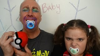 Bad Baby Victoria MESSY Make Up Fail! Victoria Annabelle! Freak Daddy! Baby Toy Freaks Family!
