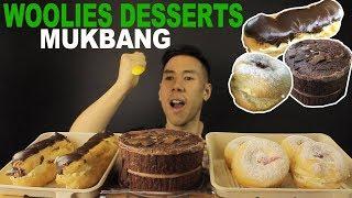 [MUKBANG] WOOLWORTHS DESSERTS-CHOCOLATE CAKE CHOCOLATE ECLAIR AND JAM DOUGNUT