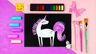 Как нарисовать ЕДИНОРОГА Радугу за 10 МИНУТ просто / Уроки рисования для детей / Раскраска