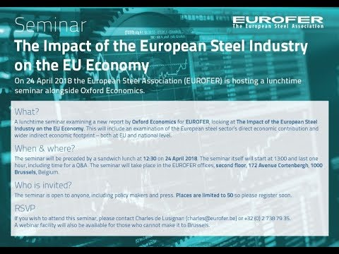 SEMINAR: The economic impact of the EU steel sector
