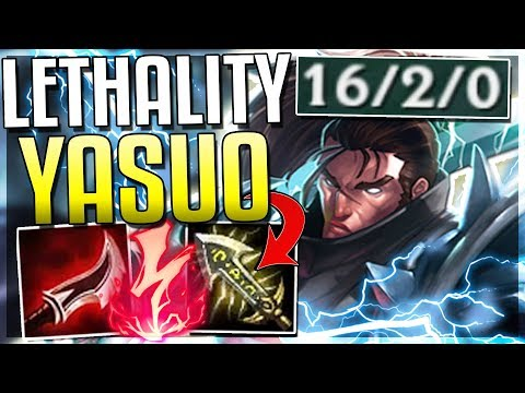 NEW LETHALITY YASUO IS BROKEN! ONE Q DOES 50% HP (NEW RUNES) - League Of Legends