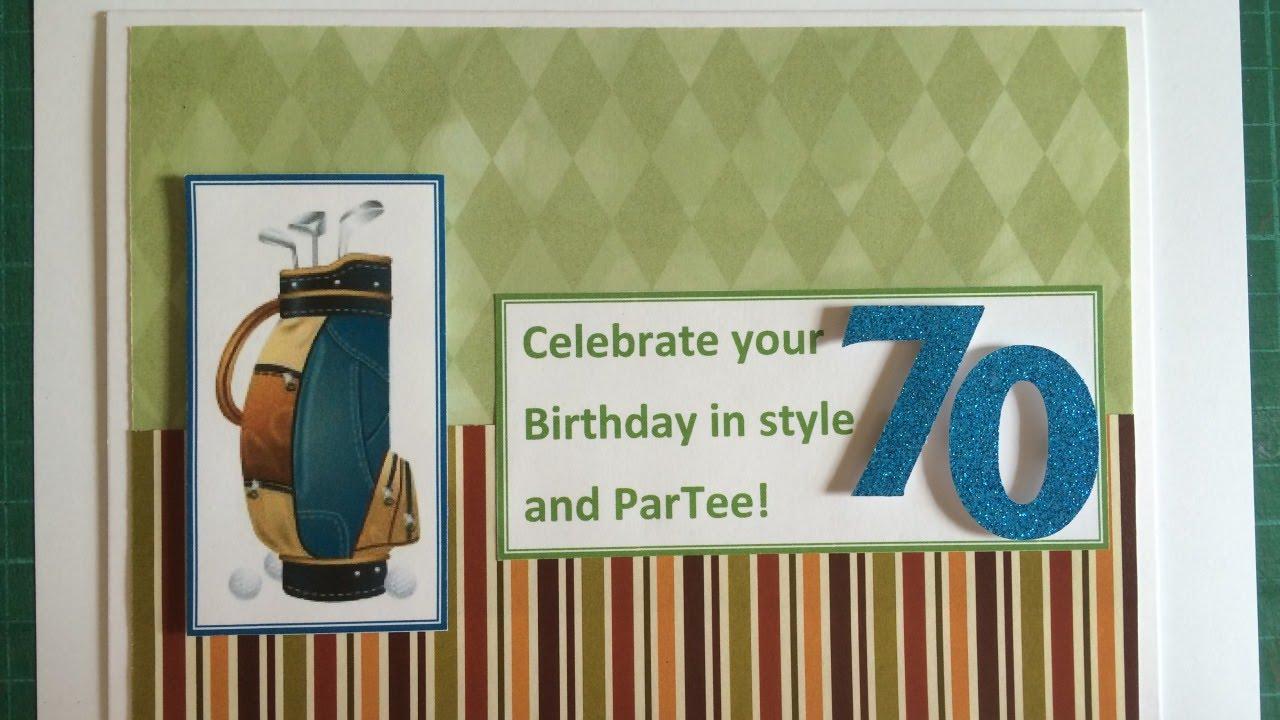 Make A Sporty 70th Birthday Card