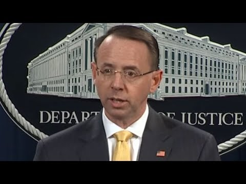 WATCH NOW: Rod Rosenstein Holds Press Conference for Law Enforcement Announcement