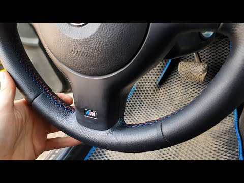 💥Перетяжка руля с неопреном➕шов BMW-M🟦🟪🟥