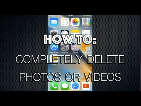 How to erase photos from iphone 6s