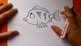 Como dibujar un pez paso a paso 4 | How to draw a fish 4
