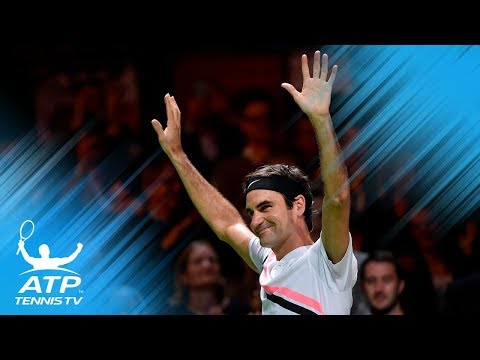 Roger Federer back at World No.1: winning moment and celebration! | Rotterdam 2018