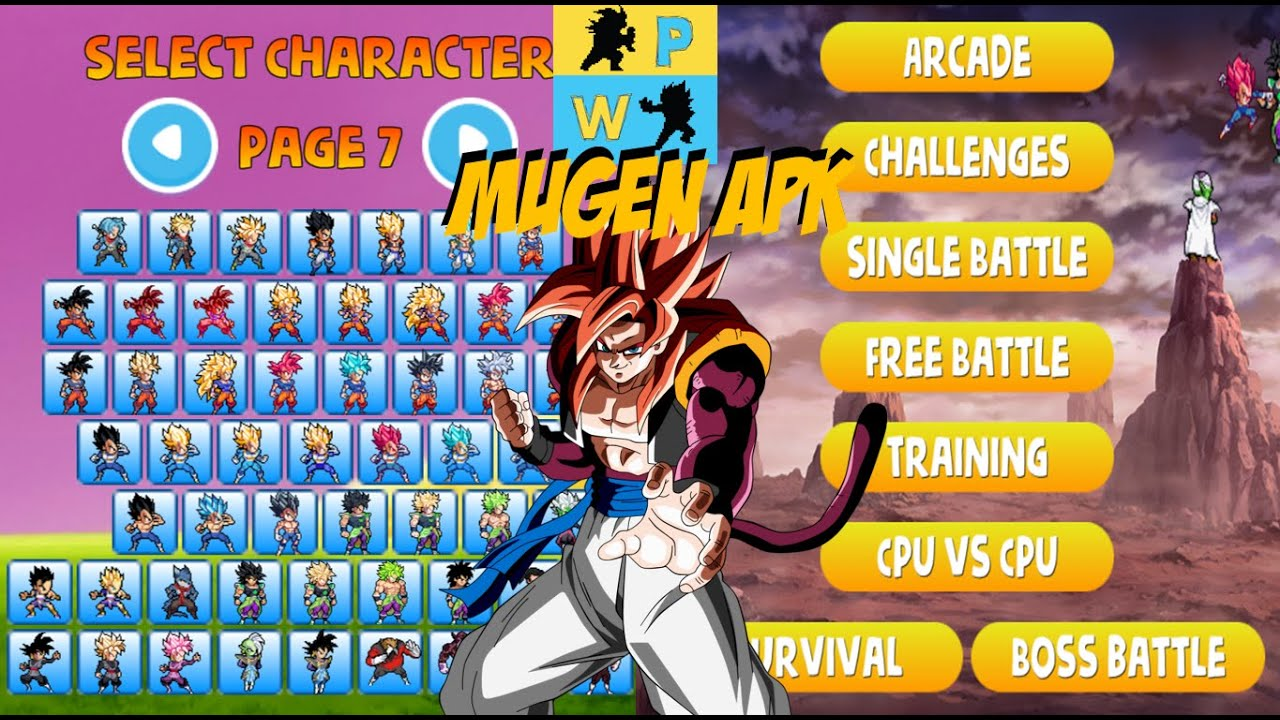 Power Warriors 11.5 Apk Download Mugen Style for Android Released 2020 !!!!!