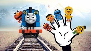 Sesame Street Elmo Bert & Ernie Thomas & Friends Finger Family Nursery Rhyme Song For Children