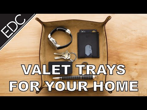 Valet Trays to Organize Your EDC at Home