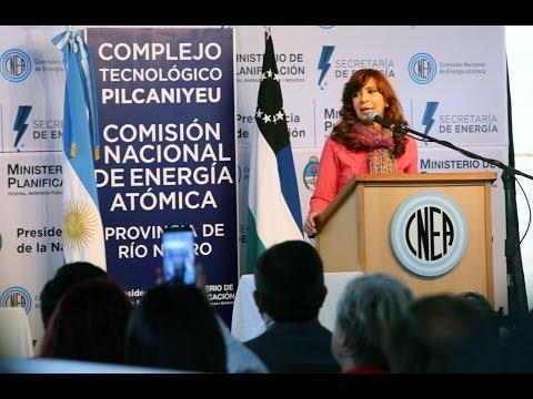 Cristina encabezó el acto por el inicio de producción de uranio enriquecido