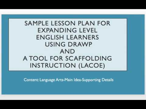 Sample Lesson Plan For English Language Learners Using Drawp and - sample lesson plan