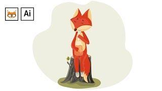 Отрисовка иллюстрации в Adobe Illustrator