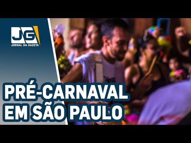 Mais de 200 blocos estão previstos para o pré-carnaval em SP