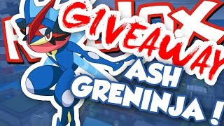 ASH GRENINJA GIVEAWAY!!! / Roblox Pokemon Brick Bronze / RussoPlays