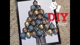 Diy Dollar Tree | Christmas Tree Wall Decor