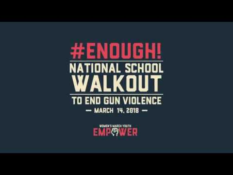 Hudson High School is Particpating in National School Walk Out Day #Enough