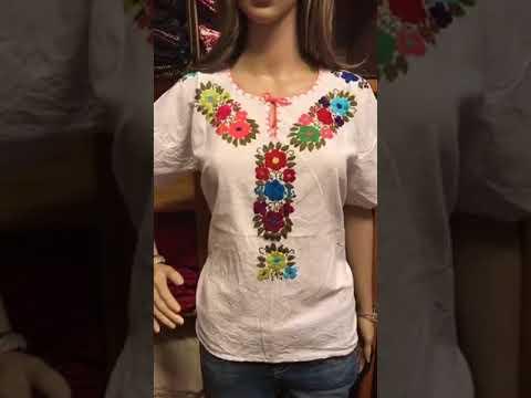 comprar lujo gama completa de especificaciones gran descuento de 2019 Hermosa blusa artesanal mexicana, bordada a mano.