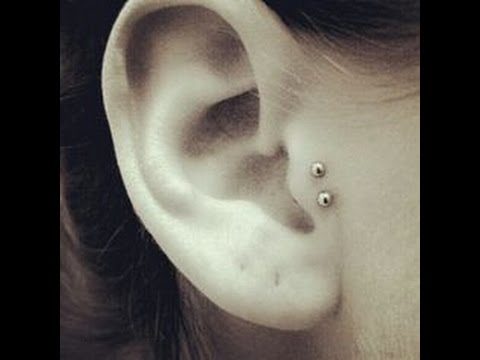 Double Tragus Piercing Experience Youtube