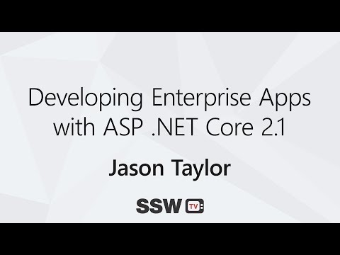 Developing Enterprise Apps with ASP .NET Core 2.1