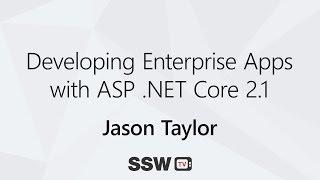 Het ontwikkelen van Enterprise Apps met ASP .NETTO-Core 2.1 | Jason Taylor