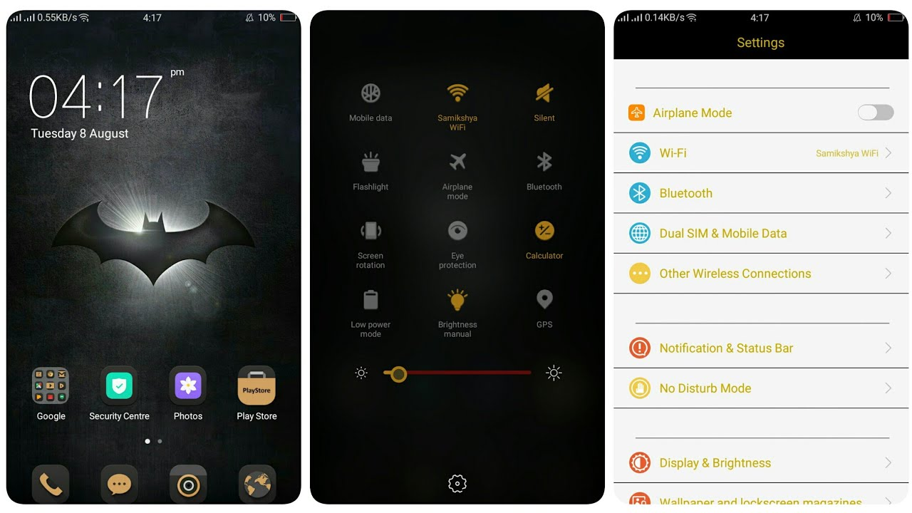 OPPO (ColorOS) Theme : Batman V2 & V3