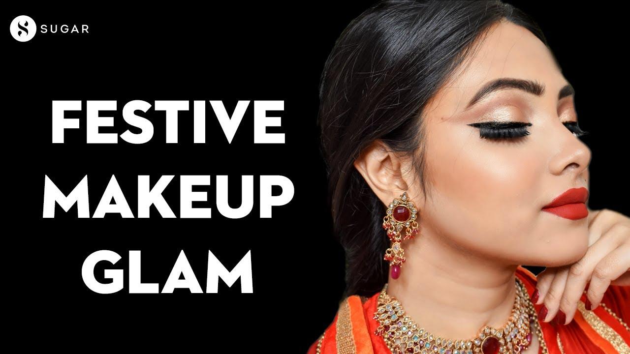 Navratri Special Makeup Look | MUST WATCH Indian Festive Makeup | Dussehra Special | SUGAR Cosmetics