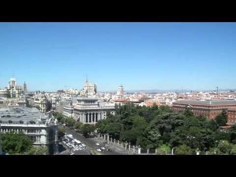 Mirador del nuevo Ayuntamiento de Madrid, España