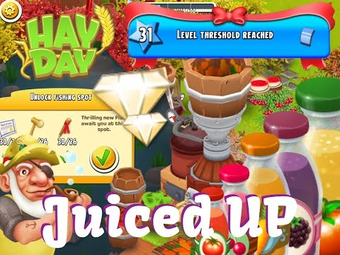 Hay Day - Level 31 Farm, New Fishings Spots and Diamonds, New Juice Machine.