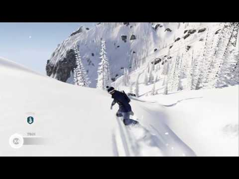 Steep snowboard freestyle