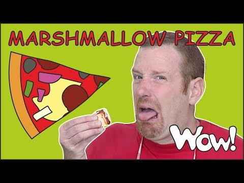 Thumbnail: Perfect Marshmallow Pizza Story from Steve and Maggie NEW | Food for Kids Stories | Wow English TV