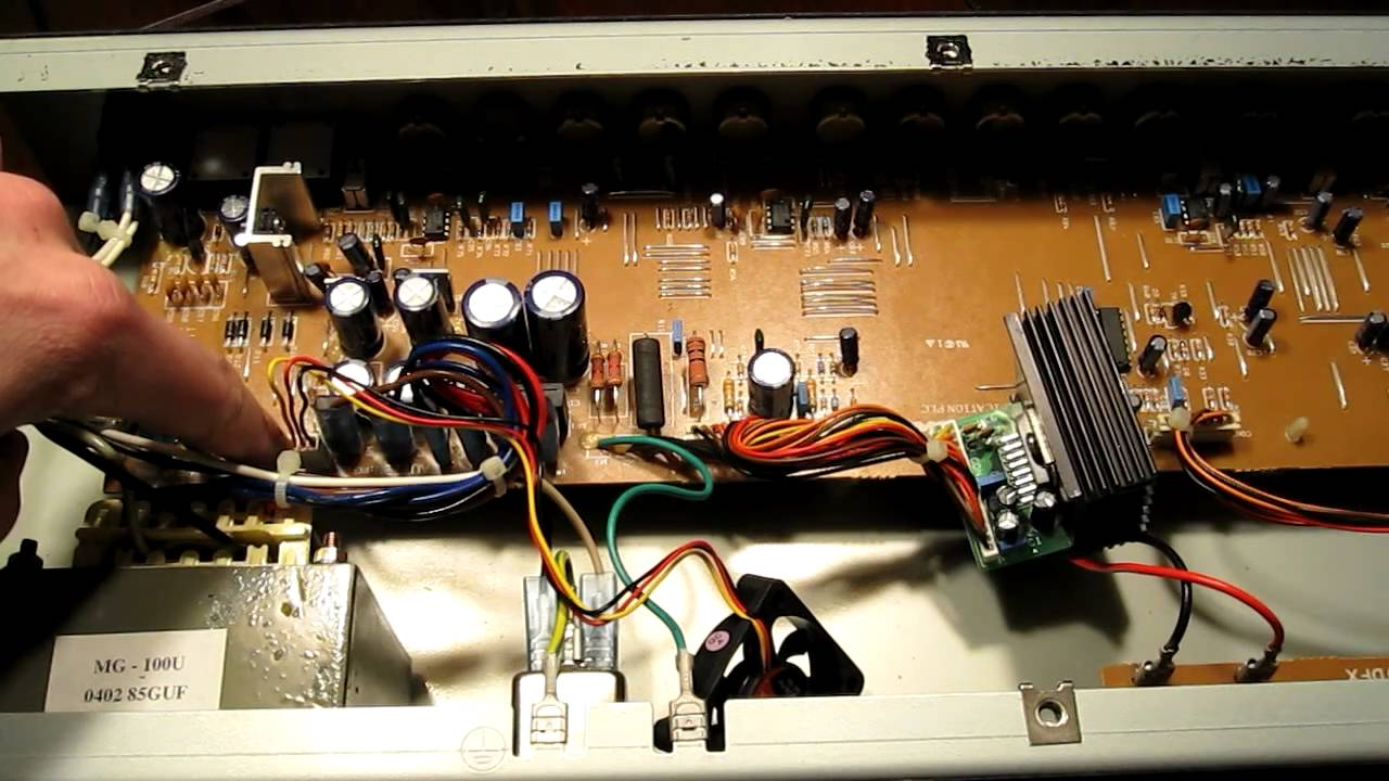 medium resolution of marshall mg100hdfx amp fan fix tutorial