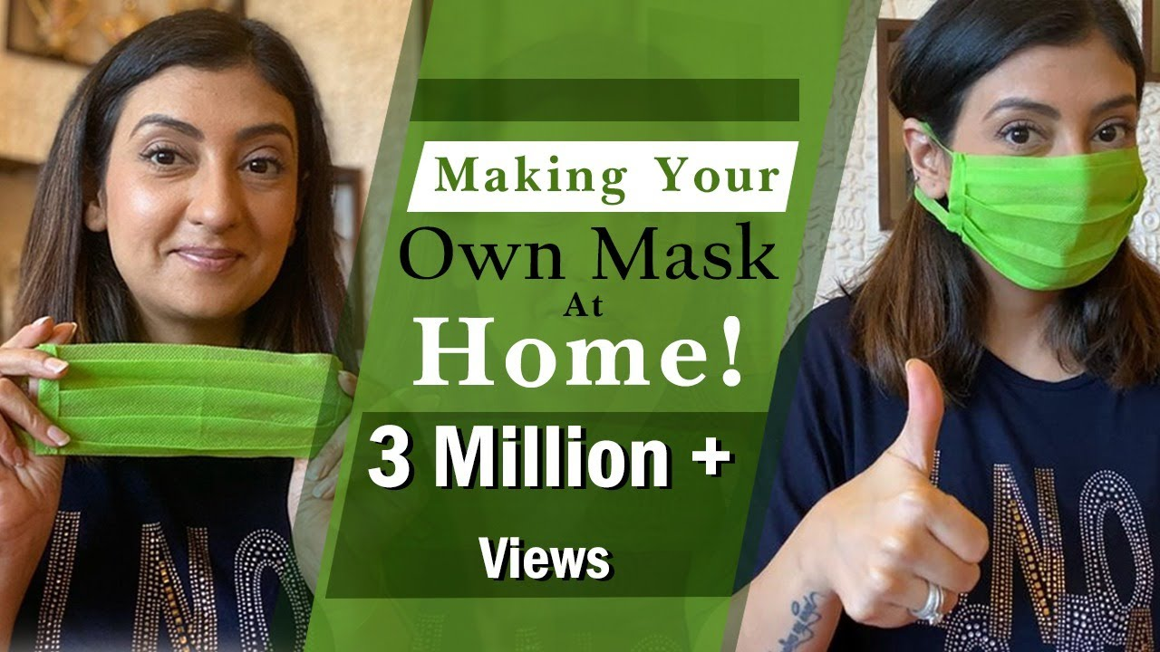 Making Your Own Mask At Home l DIY Economical Face Mask At Home