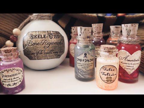 DIY Harry Potter Potion Bottles! | Crafts With Castora