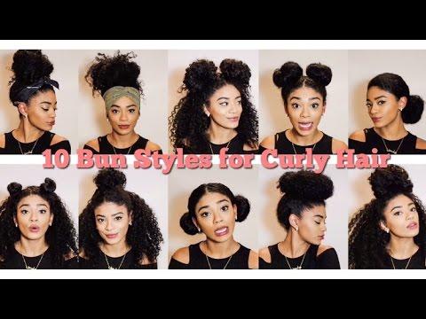 natural hair 10 bun styles