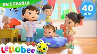 Cinco monitos saltando en la cama | Nanas para bebés | Little Baby Bum - Canciones Infantiles