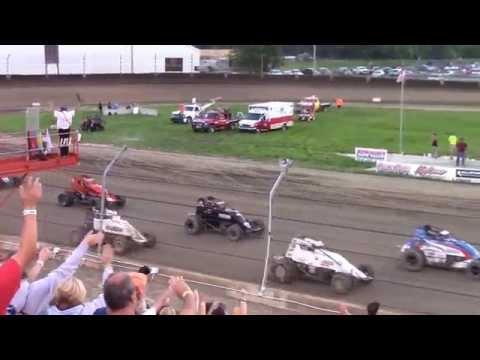 Kokomo Speedway Sprint Car Feature Highlights 6-28-15